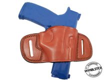 "Load image into Gallery viewer, 1911 3""- 5"" Colt, Kimber, Para, Springfield OWB Quick Draw Leather Belt Holster"