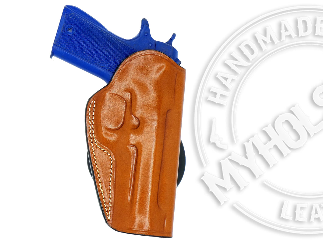 Glock 17/22/31 OWB Quick Draw Right Hand Leather Paddle Holster