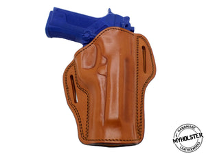 CZ 75 B  Right Hand Open Top Leather Belt Holster