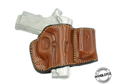 Load image into Gallery viewer, Sig Sauer 1911 Ultra Compact 45 ACP Belt Holster with Mag Pouch Leather Holster
