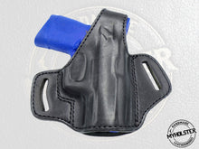 Load image into Gallery viewer, Smith & Wesson M&P 380 Shield M2.0 EZ OWB Thumb Break Right Hand Leather Belt Holster