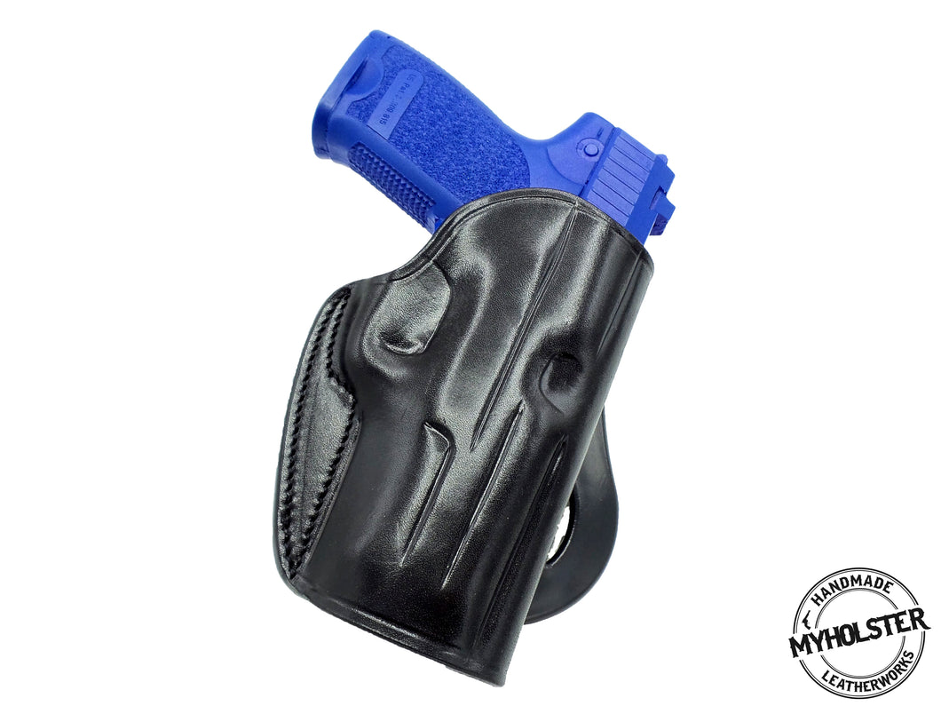 Springfield Armory XD 4″  OWB Leather Quick Draw Right Hand Paddle Holster - Choose Your Color