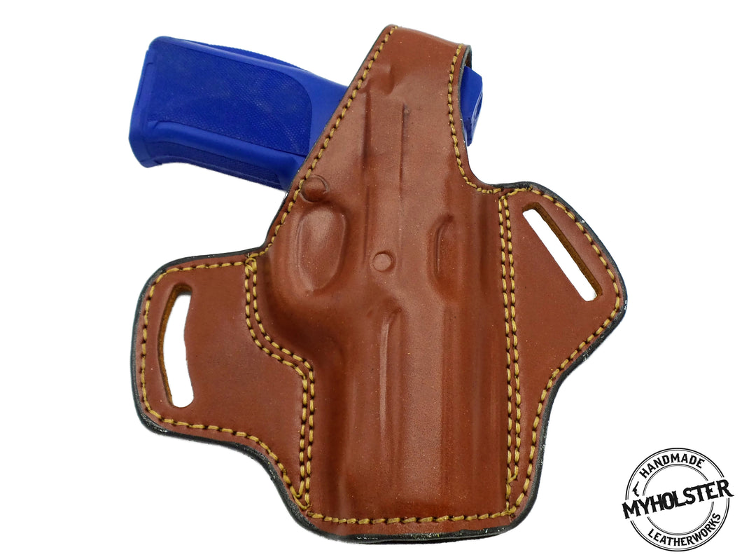 Smith & Wesson 4006 OWB Thumb Break Leather Belt Holster- Choose your Hand & Color