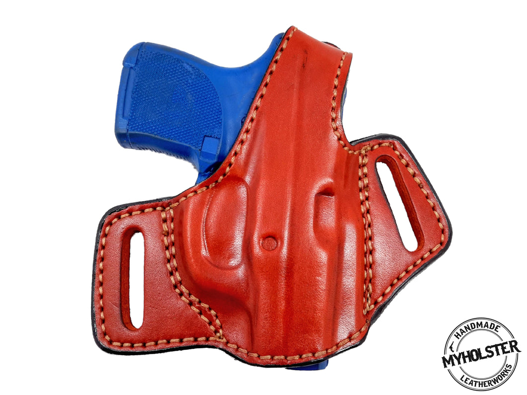 Ruger LCP OWB Thumb Break Compact Style Right Hand Leather Holster