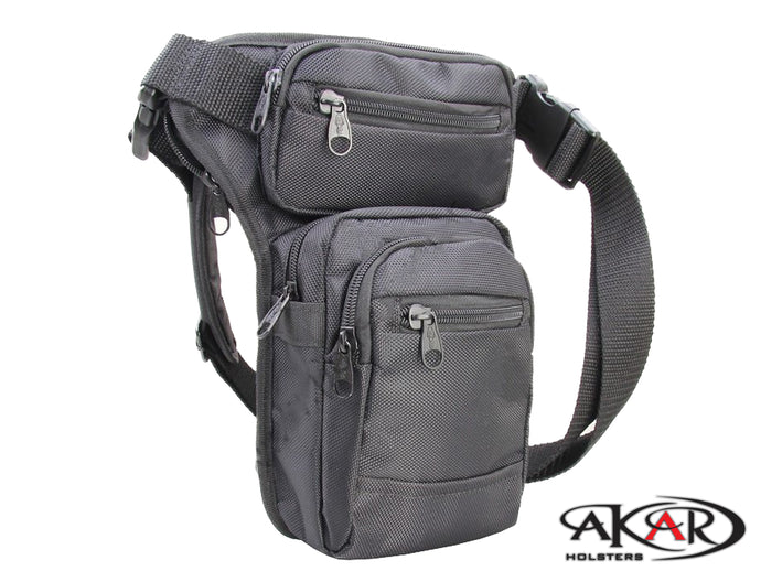 (WSP)  Akar Leg Bag for Concealed Gun Carry - Multi-Purpose CCW EDC Waist Bag