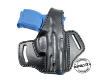 Load image into Gallery viewer, Glock 43 OWB Thumb Break Leather Belt Holster - Choose Your Hand and Color