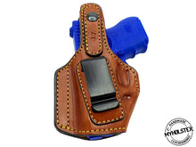 Load image into Gallery viewer, MOB Middle Of the Back IWB Right Hand Leather Holster Fits Glock 26/27/33