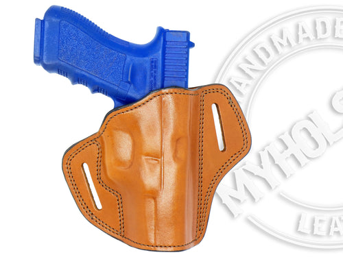 Sig Sauer P320 X-Carry OWB Open Top Two Slot  Belt Right Hand Leather Holster