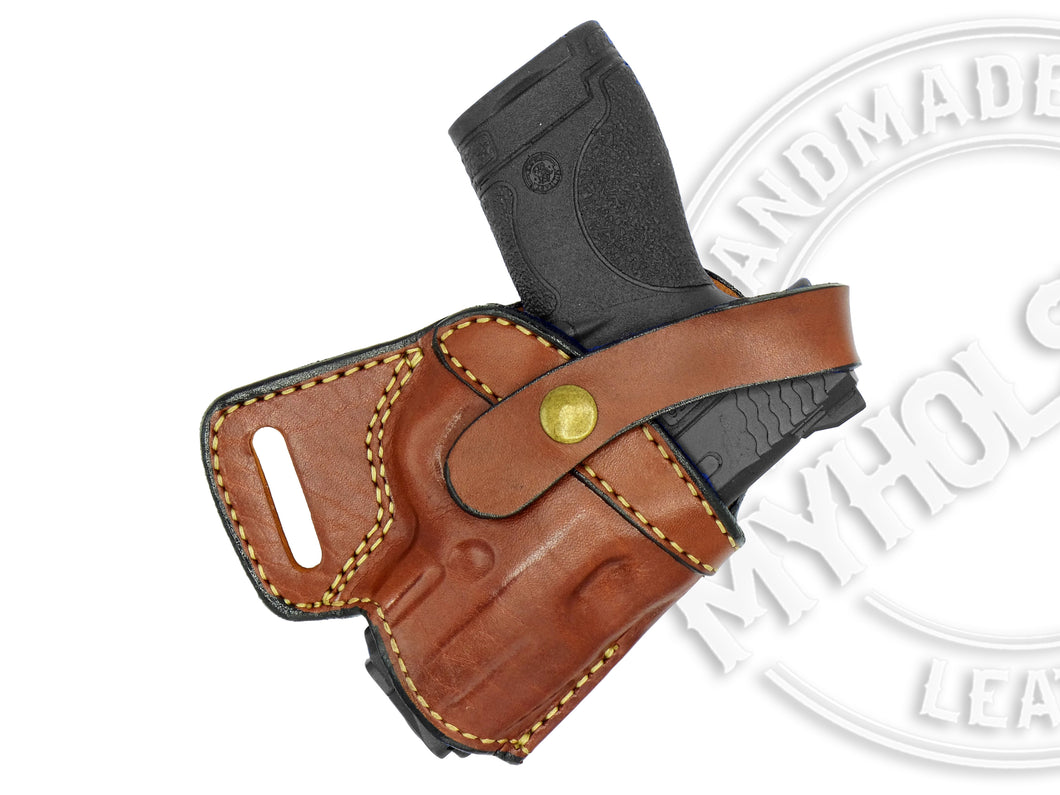 Smith & Wesson SHIELD 9mm SOB Small Of the Back Leather Holster