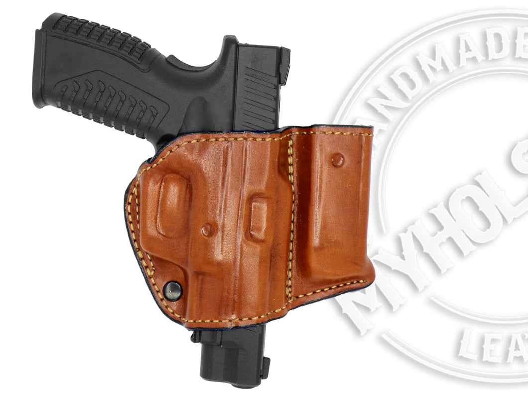 AMT AutoMag II OWB Holster w/ Mag Pouch Leather Holster