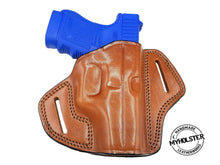 GLOCK 26 Open Top OWB Right Hand Leather Belt Holster