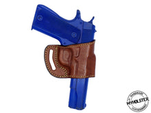 "1911 4""-5"" Colt, Kimber, Para, Springfield, Smith - Right Hand Yaqui Slide Style Belt Leather Holster"