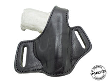 Load image into Gallery viewer, Beretta 3032 Tomcat Right Hand OWB Thumb Break  Black Leather Belt Holster