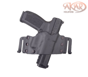 GLOCK 27 & Similar Frames - Akar Scorpion OWB Kydex Gun Holster W/Quick Belt Clips