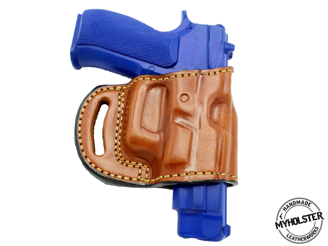 Tanfoglio BTA90 9mm  OWB Yaqui Style Belt Slide Holster Right Hand