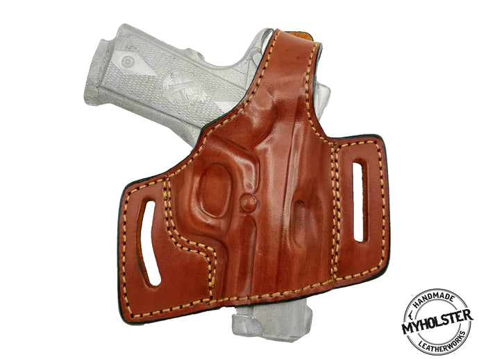 1911 3-Inch Colt, Kimber, Para, Springfield Springfield OWB Quick Draw Right Hand Thumb Break Belt Holster
