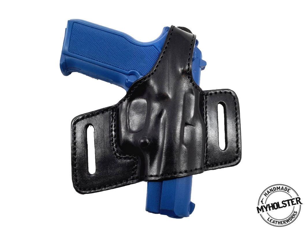 S&W Shield 9 & 40 OWB Thumb Break Compact Style Right Hand Leather Holster
