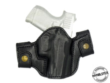 GLOCK 43 OWB Leather Side Snap Belt Right Hand Holster