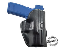 Golan 9mm OWB Leather Quick Draw Right Hand Paddle Holster - Choose Your Color