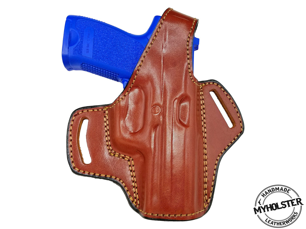 Sarsilmaz K2-45 Right Hand OWB Thumb Break Leather Belt Holster
