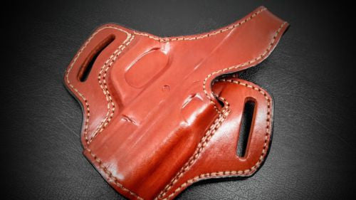 Premium Quality Brown Pancake Belt Holster for S&W M&P 40 COMPACT 3.5