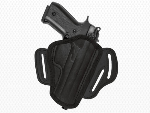 Akar-Black Nylon Belt Holster with  3 loops and thumb break for Glock (see description)