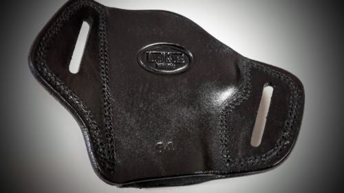 Black Open Top Pancake Belt Holster for S&W M&P 40 COMPACT 3.5