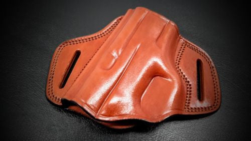 Premium Quality Brown Open Top Pancake Belt Holster for S&W M&P 40 COMPACT 3.5