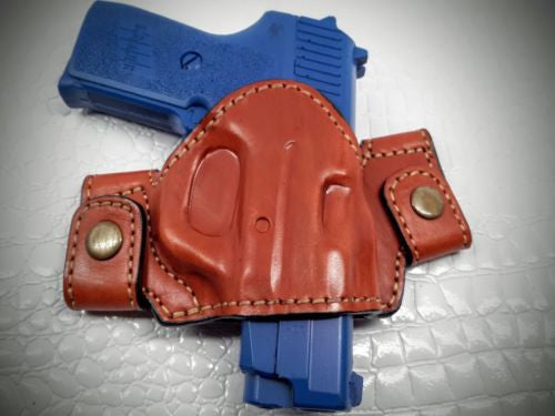 MyHolster Premium Quality Brown Snap On Yaqui Slide Holster for S&W M&P 45 4.5