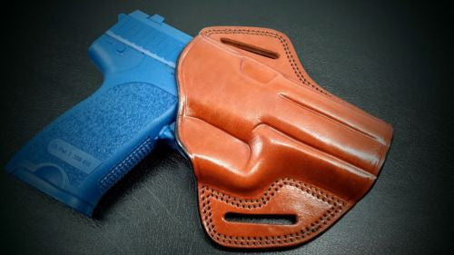 Premium Quality Brown Open Top Pancake Belt Holster for H&K USP 9MM