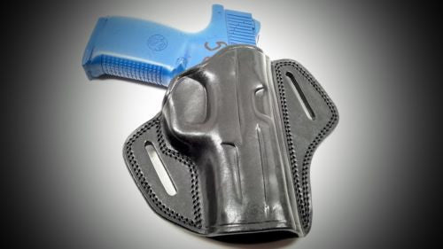 Black Open Top Pancake Belt Holster for S&W M&P 45 4.5