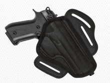 Load image into Gallery viewer, Akar-Black Nylon Belt Holster with  3 loops and thumb break for Glock (see description)