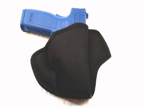 Black Open Top Pancake Belt Holster for