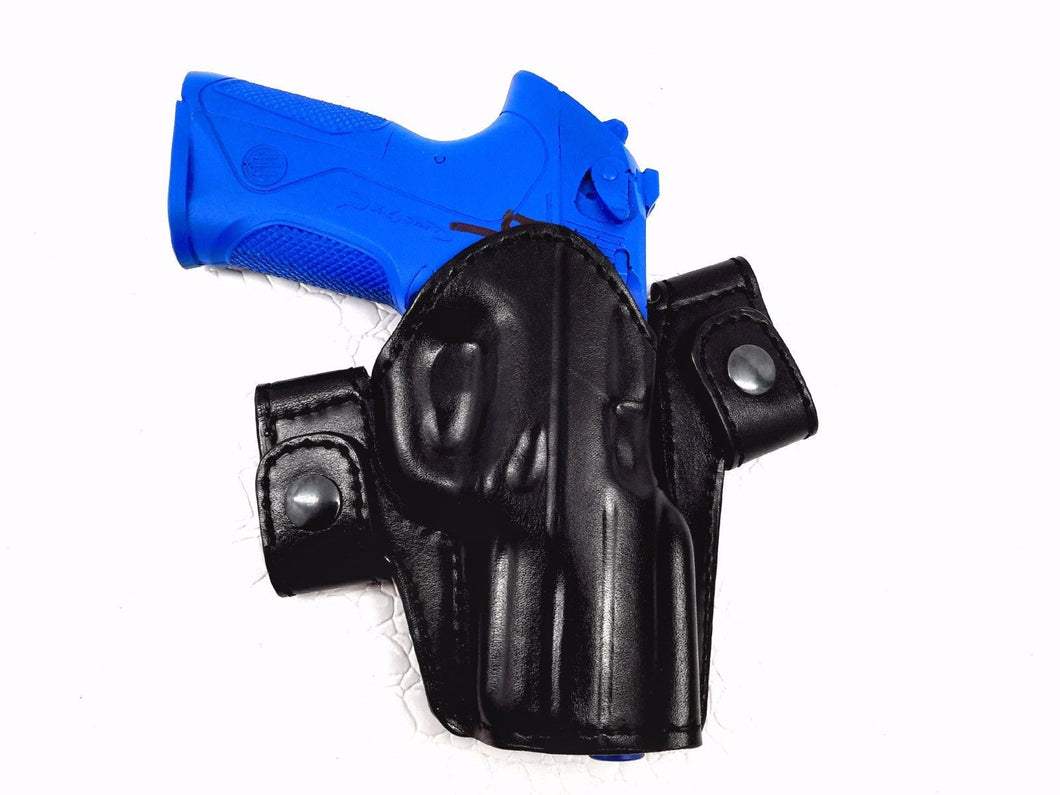 Ruger SR9c OWB Leather Side Snap Belt Right Hand Holster – MyHolster