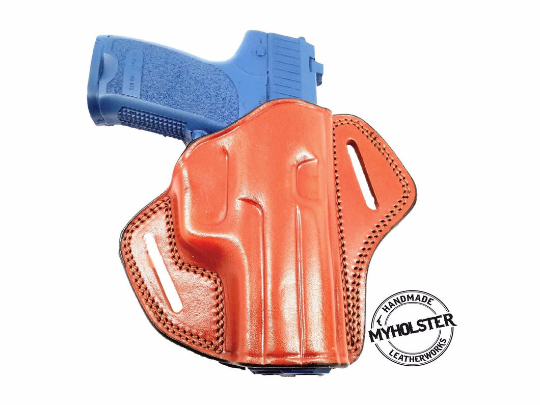 Heckler & Koch USP 9mm Open Top  Right Hand Leather Belt Holster