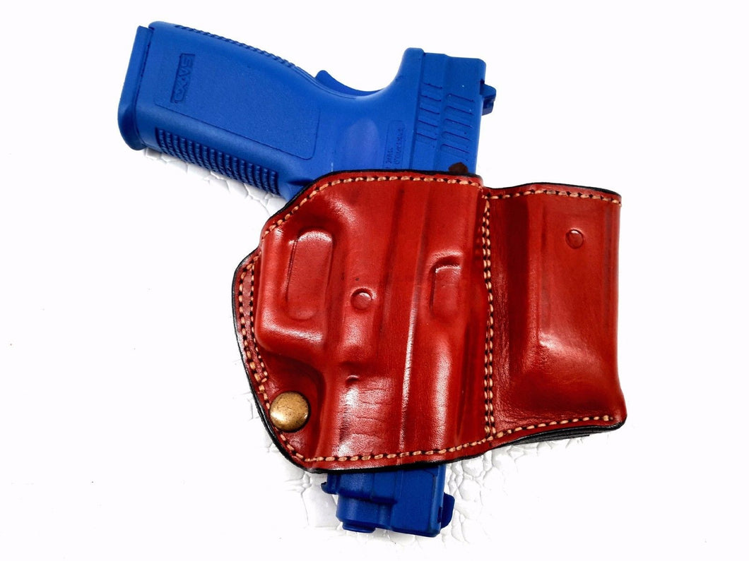 Holster w/ Mag Pouch Leather Holster for Springfield Armory XD-45,4