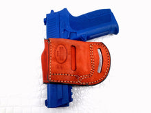 Load image into Gallery viewer, Yaqui slide belt holster for Sig Sauer SP2022 9mm