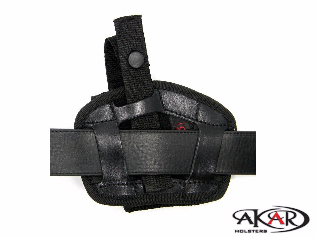WALTHER P22, CCP Leather & Nylon Thumb Break Pancake Belt Holster, Akar