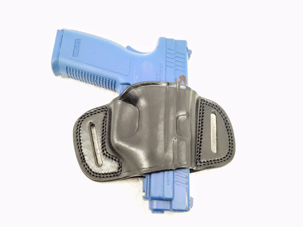 OWB Quick Slide Leather Belt Holster for Glock 17/22/31, MyHolster