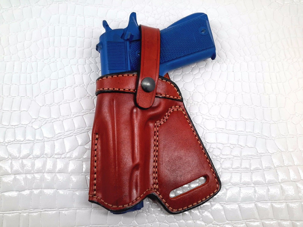 SOB Small Of Back Holster for KIMBER CUSTOM II (TWO-TONE) .45 ACP