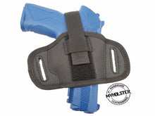 Semi-molded Thumb Break Pancake Belt Holster for Springfield XDM 9mm, 3.8""
