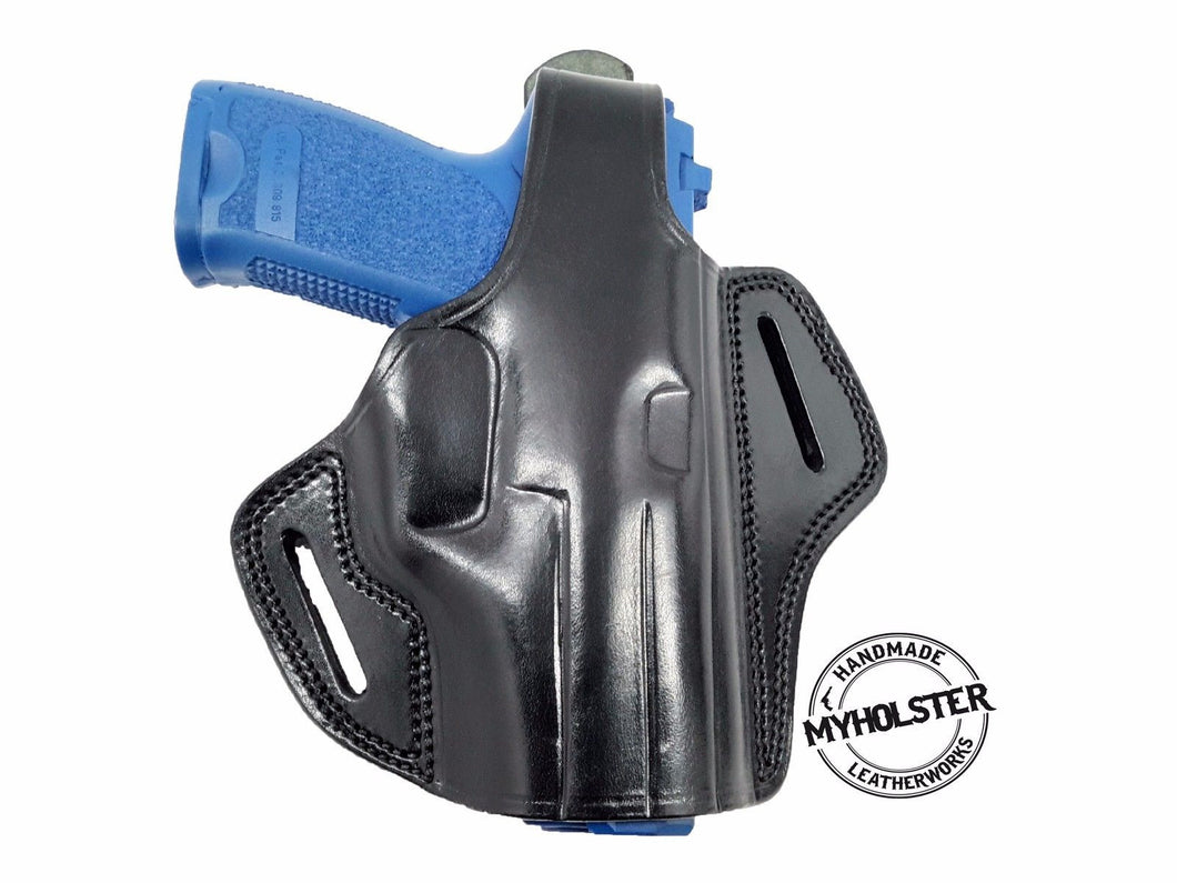 OWB Thumb Break Leather Belt Holster for Sig Sauer P220 , Right Hand