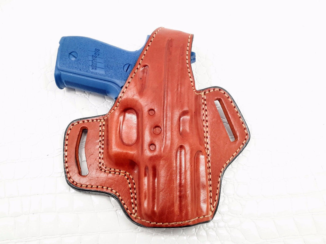 OWB Thumb Break Leather Belt Holster for SIG Sauer P229, MyHolster