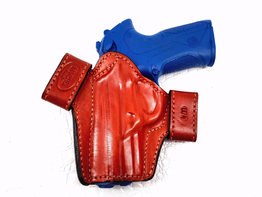 Ruger SR9c OWB Leather Side Snap Belt Right Hand Holster