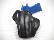"GAZELLA - Open Top Leather Belt Gun Holster for 1911 guns 4-5"" , Leather"