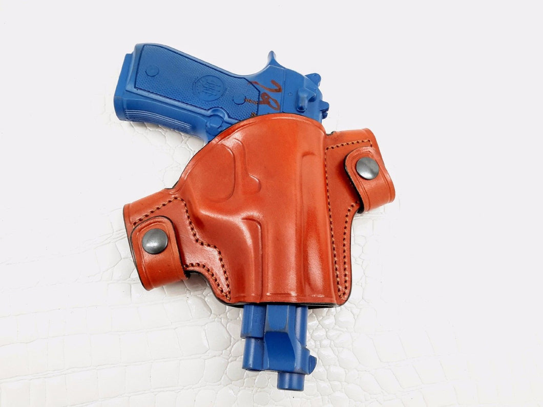 Beretta 92G OWB Snap-on Right Hand Leather Holster