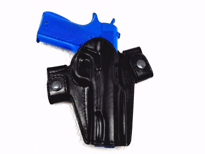 Ruger SR9 LEATHER DUAL SNAP-ON OPEN TOP OWB HOLSTER,  MyHolster