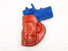 Springfield EMP 9mm IWB Inside the Waistband Leather Right Hand Belt Holster