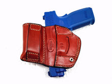 "Belt Holster with Mag Pouch Leather Holster for S&W M&P 45 4.5"" , MyHolster"