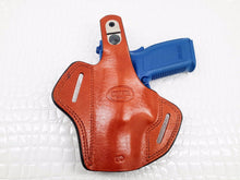 "Springfield XDM 9mm 3.8"" OWB Thumb Break Leather Belt Holster, MyHolster"